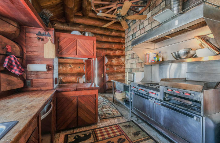 country log home with lake frontage near Gull Lake