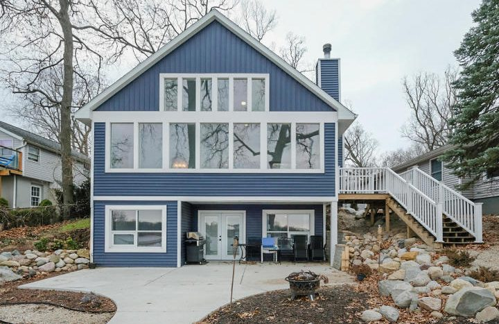 Long Lake waterfront home in Portage